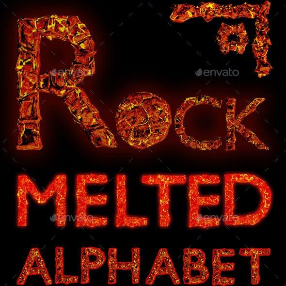 Melted Rock alphabet