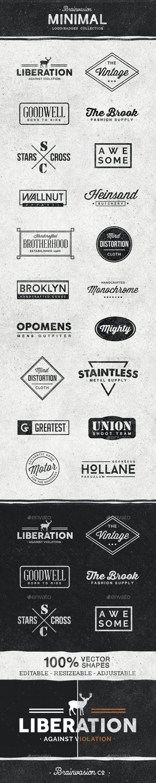 Minimal Logo/Badge Collection - Badges & Stickers Web Elements