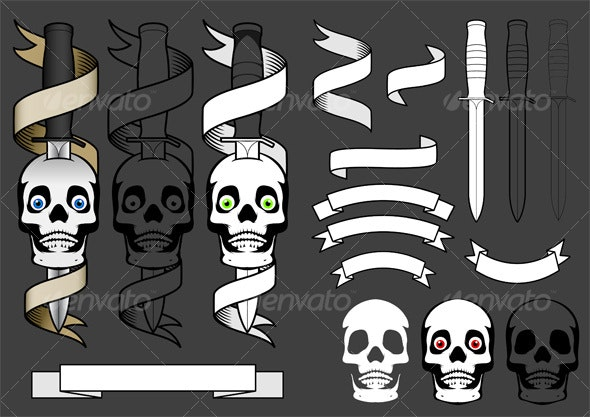 Tattoo Elements 1 - Tattoos Vectors
