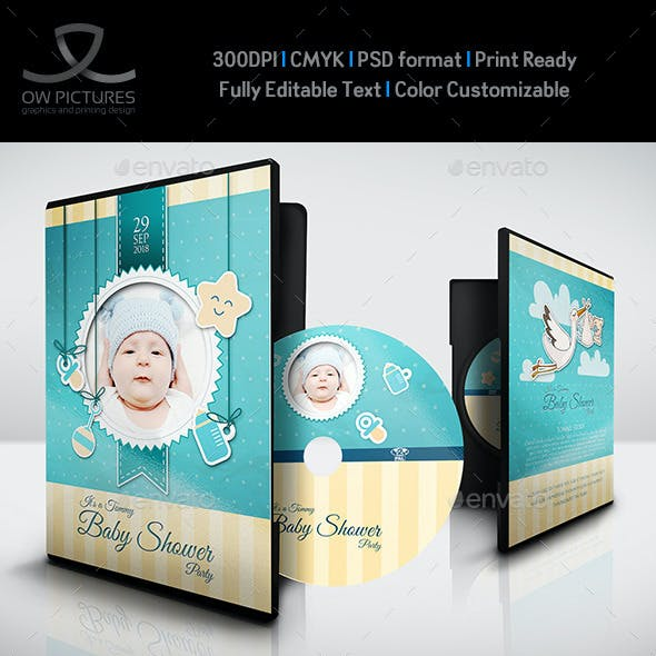 Baby Shower Party DVD Template Vol.4