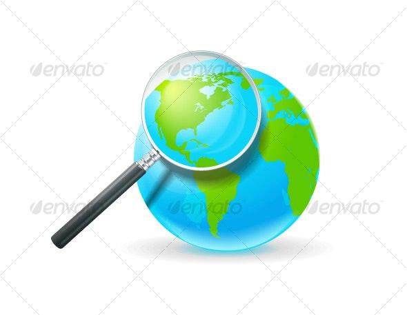 globe&lens - Objects Vectors