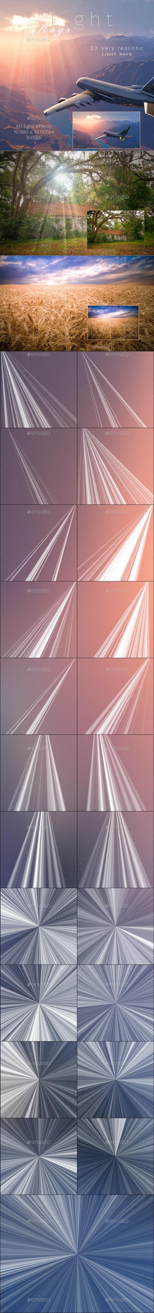 Light Rays - Sunburst - Decorative Graphics