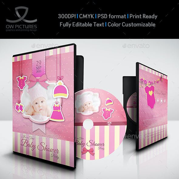 Baby Shower Party DVD Template Vol.5
