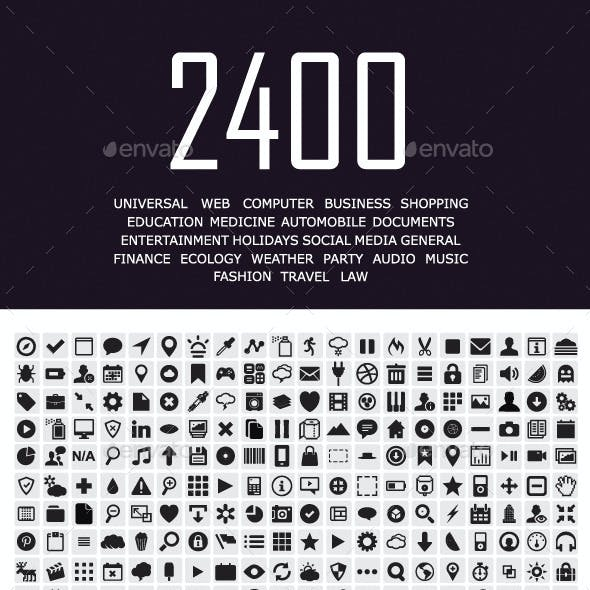 2400 Vector Icons