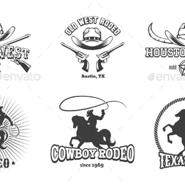 Wild West and Rodeo Labels