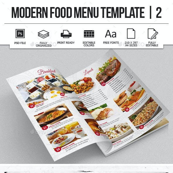 Modern Food Menu Design 2