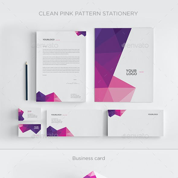 Clean Pink Pattern Stationery