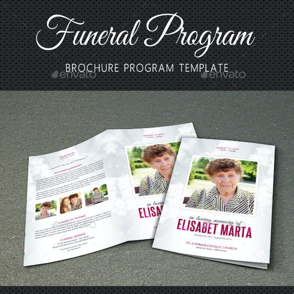 Funeral Program Brochure Template V02