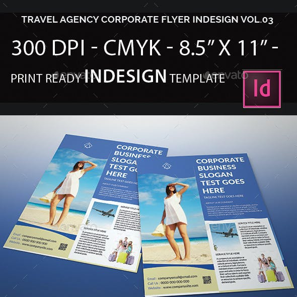 Travel Agency Corporate Flyer Indesign Vol.03