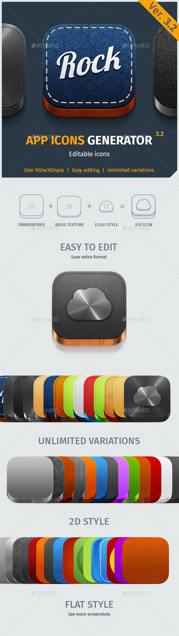 App Icon Generator V.3.2 - Software Icons
