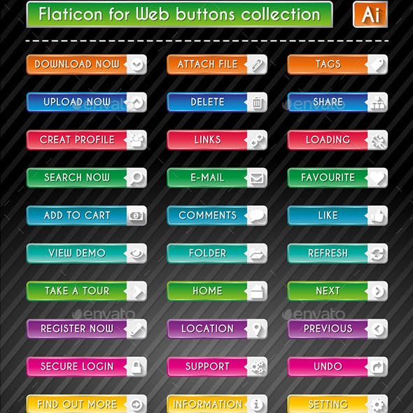 Flaticon for Web Buttons Collection