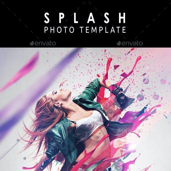 Splash Photo Template