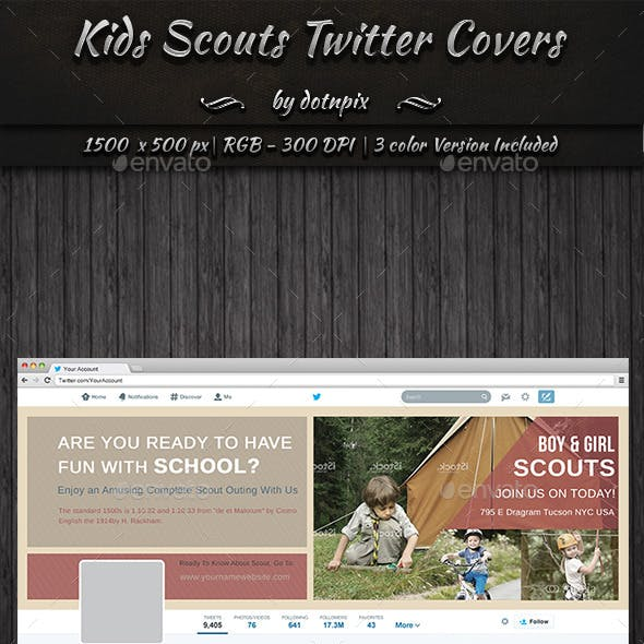 Kids Scouts Twitter Covers