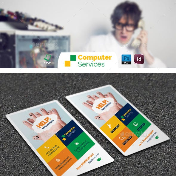 Computer Repair Business Card Templates