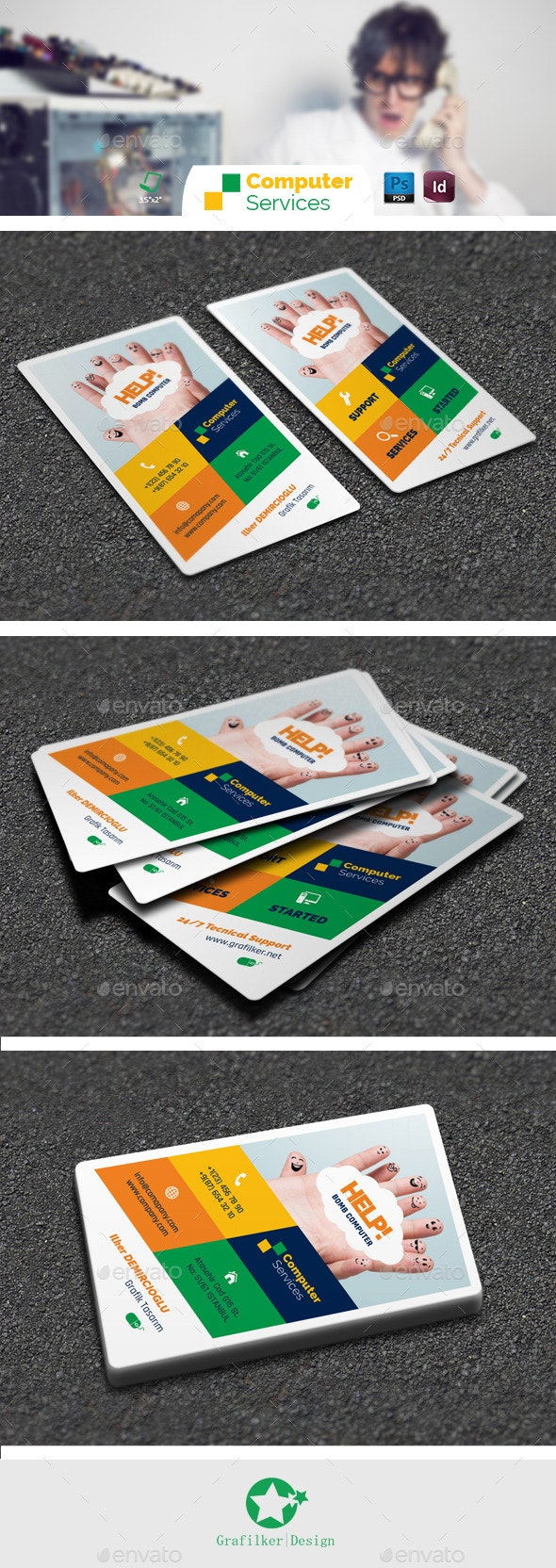 Computer Repair Business Card Templates - Creative Business Cards