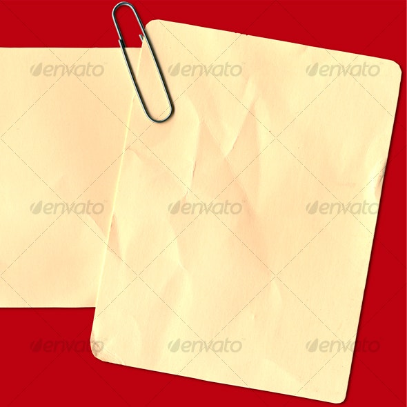 Card With Paper Clip - Home & Office Isolated Objects