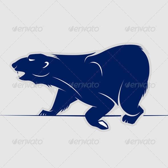 Cartoon Bear Vector Icon  - Animals Characters