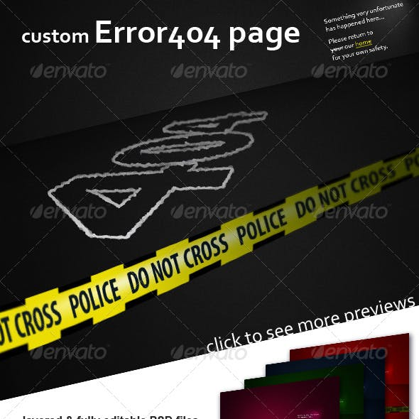 Error 404 page - crime scene