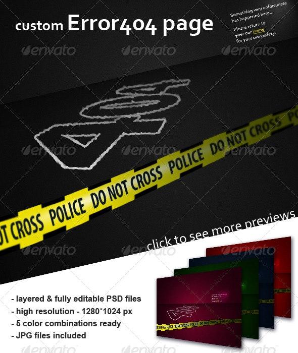 Error 404 page - crime scene - 404 Pages Web Elements