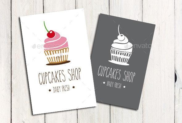 Cupcake Shop - Logo Template - Food Logo Templates