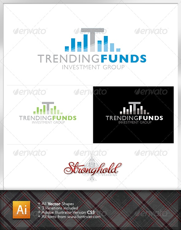 Trending Funds Logo - Letters Logo Templates