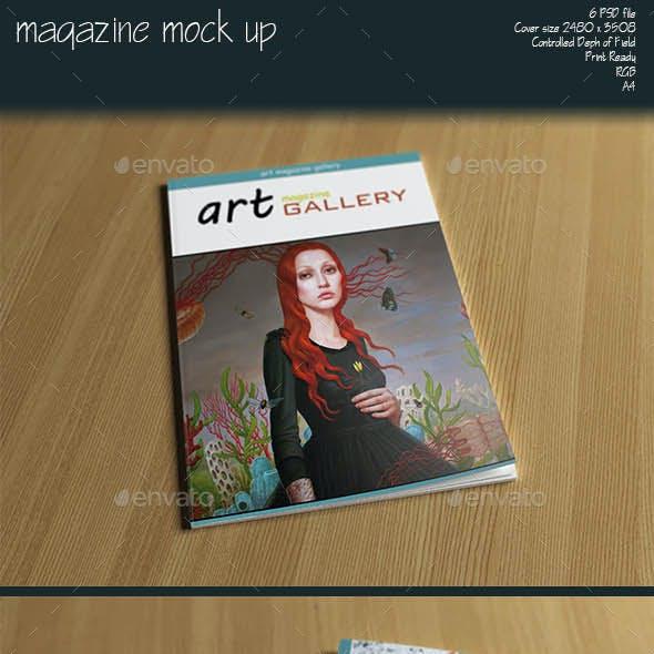 Magazine A4 Mock Up
