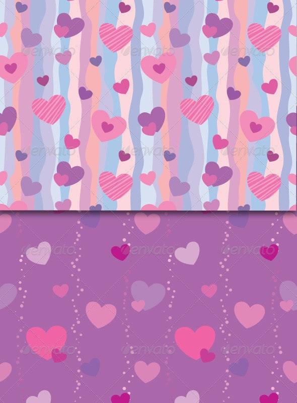 Valentine Seamless Patterns - Patterns Decorative