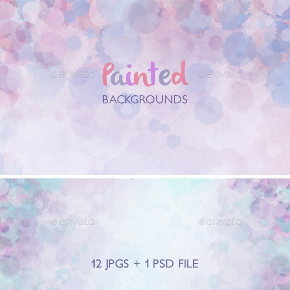 Painted Watercolor Backgrounds