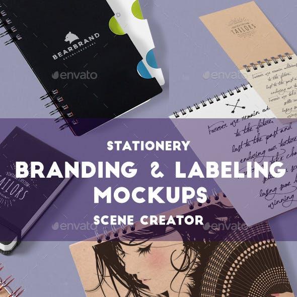 Stationery Branding & Labeling Scene Creator