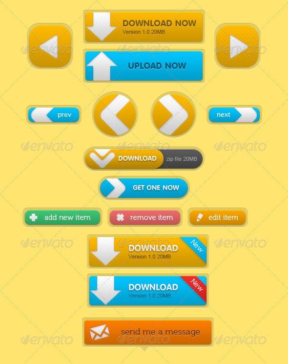 Web Buttons - Buttons Web Elements
