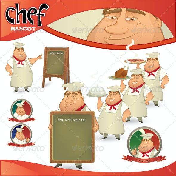 Vector Chef Mascot