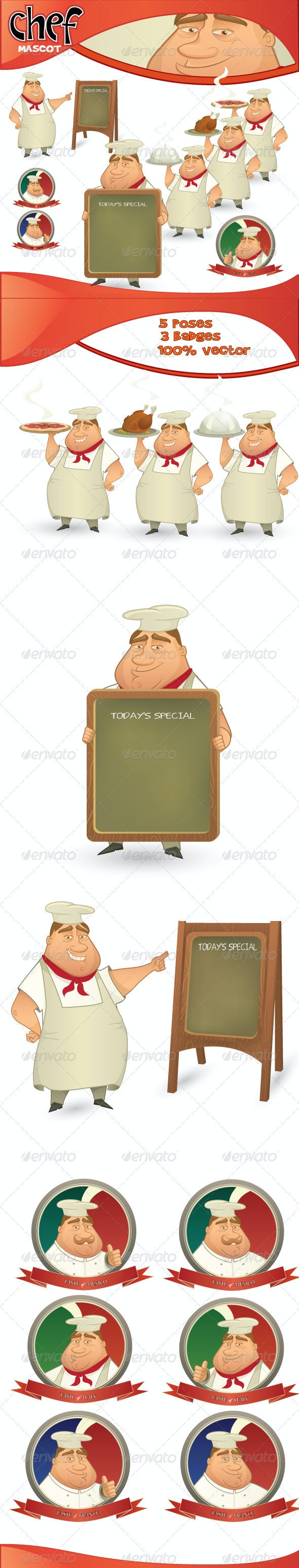 Vector Chef Mascot - People Characters