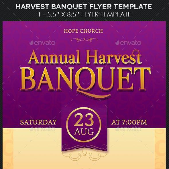 Harvest Banquet Flyer Template