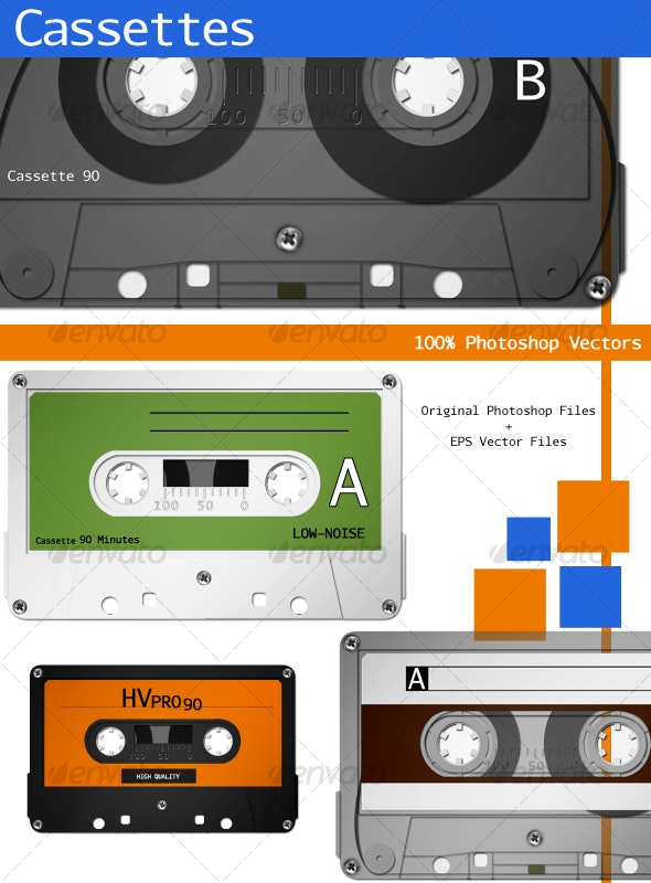 Cassettes - Objects Illustrations