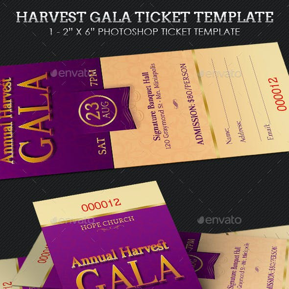 Harvest Gala Ticket Template