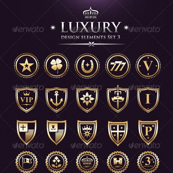Vector Luxury VIP Design Elements Set 3