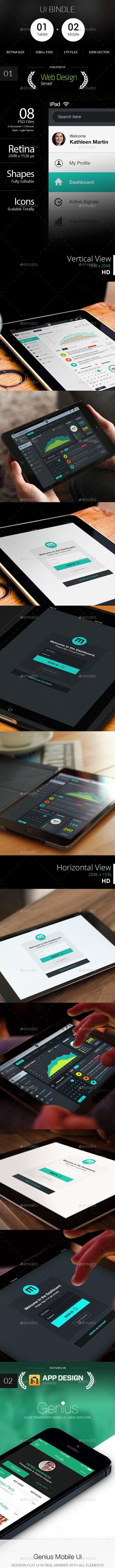 Bundle - Mobile & Tablet Ui  - User Interfaces Web Elements