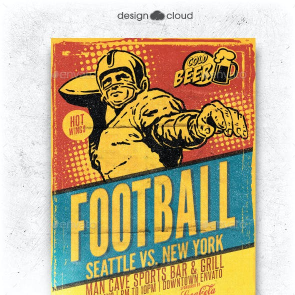 Retro Football Flyer Template