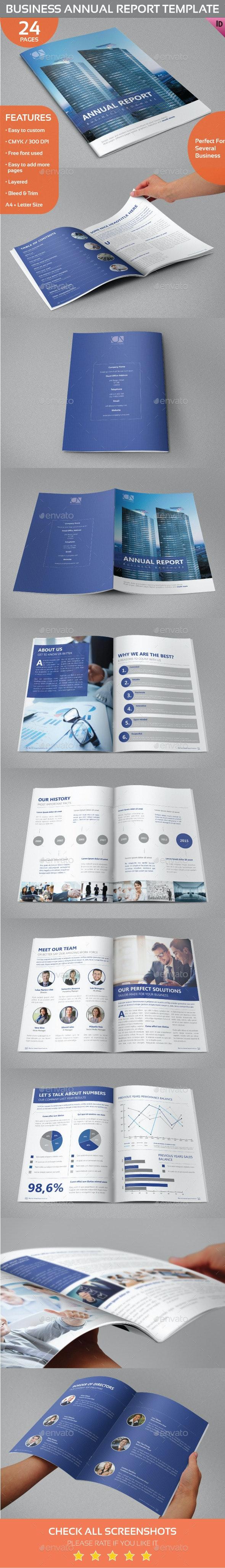 Business Annual Report/Brochure Template - Informational Brochures