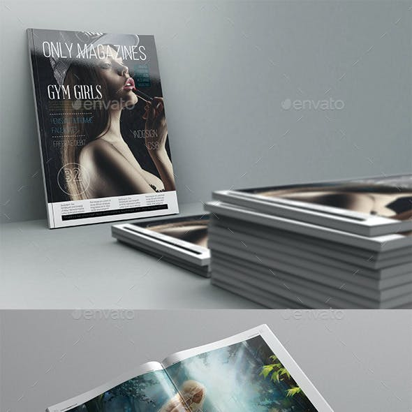 Only Magazine Template 32 Pages