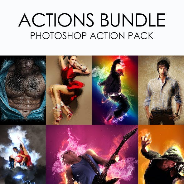 Actions Bundle - Photoshop Action Pack