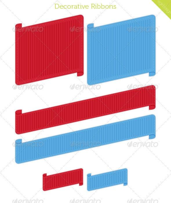 Decorative Ribbons - Web Elements Vectors