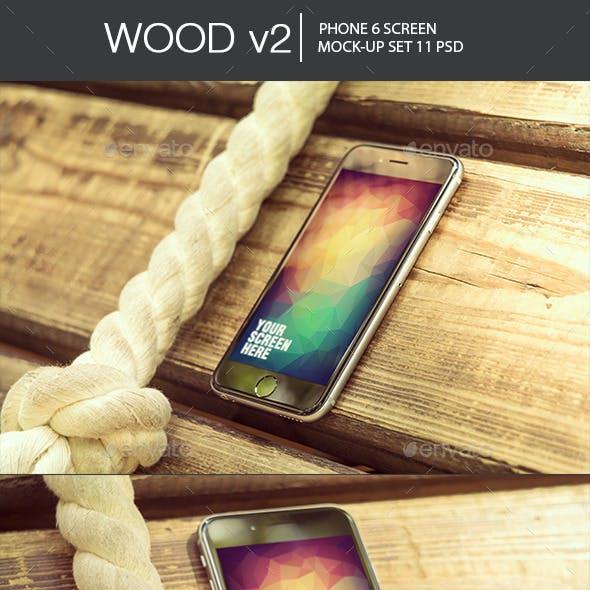 Wood v2 Phone 6 Mock-Up