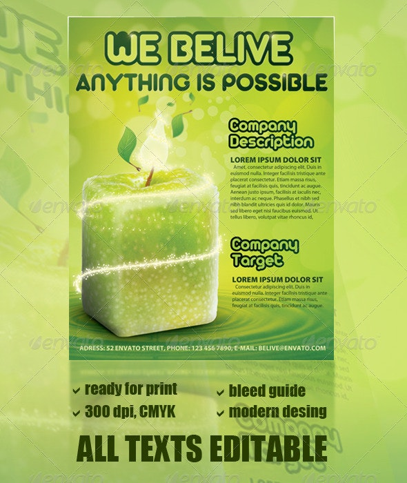 Apple - Everything is possible - Corporate Flyers