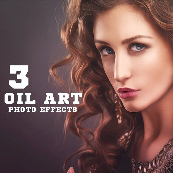 3 Oil Paint Photo Effects