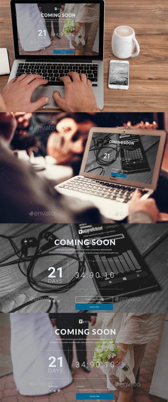 Yanie - Coming Soon Page