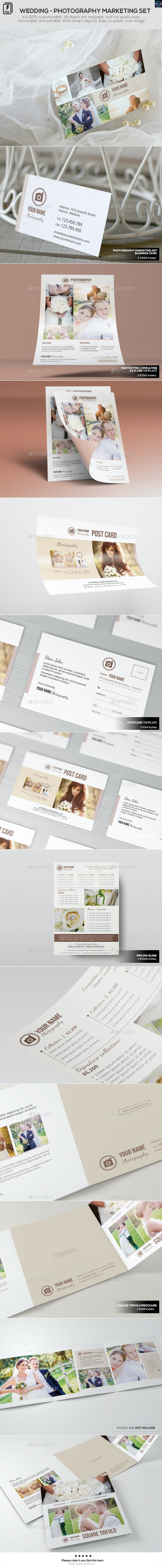 Wedding-Photography Marketing Set - Miscellaneous Print Templates