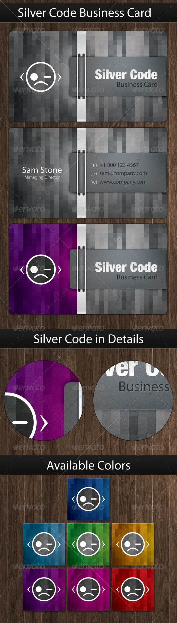 Silver Code, Classy Business Card - Creative Business Cards