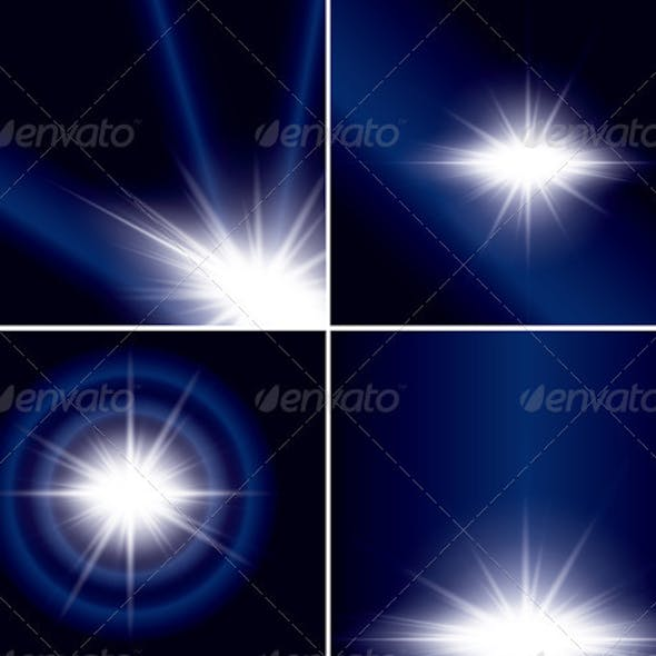 Abstract Backgrounds with Flash for Design