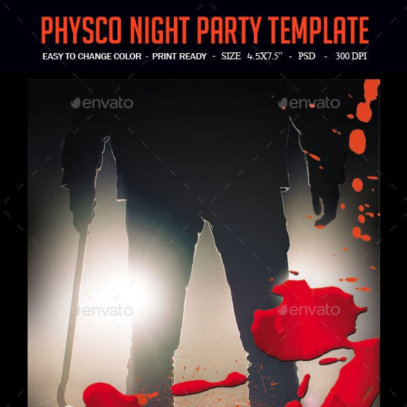 Physco Night Party Template